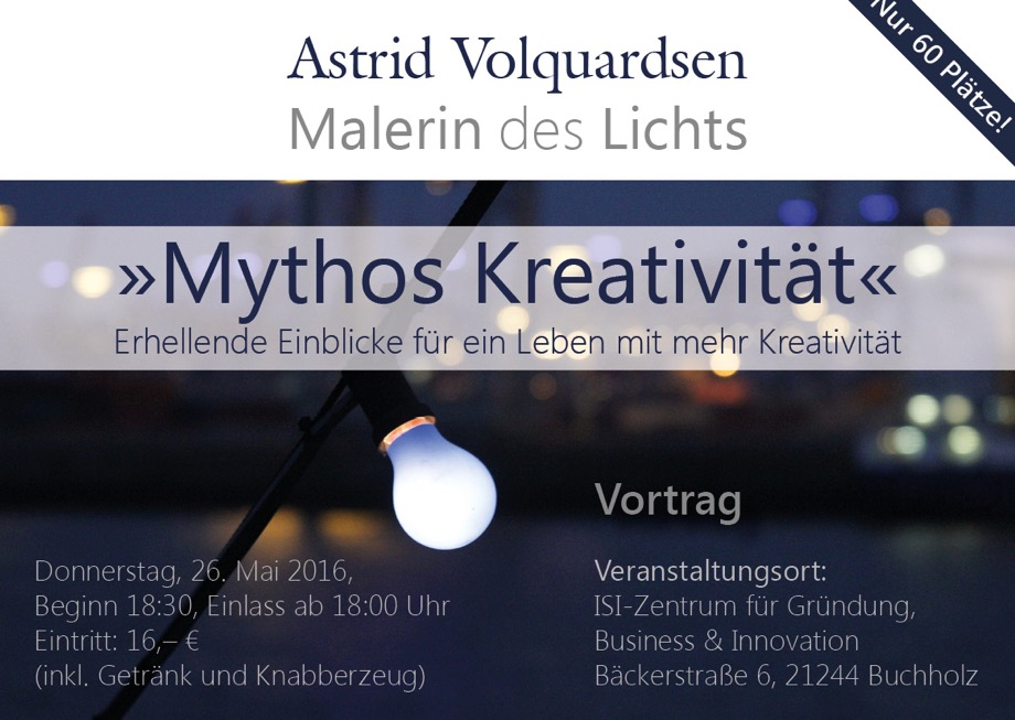 Astrid Volquardsen - Vortrag Mythos Kreativität