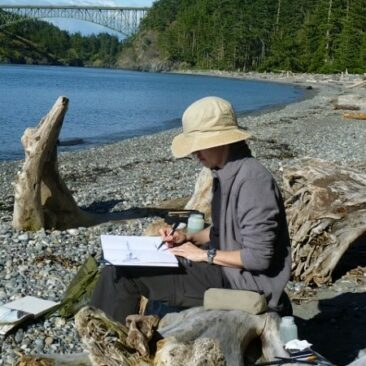 15.06.2011 - Painting at Deception Pass
