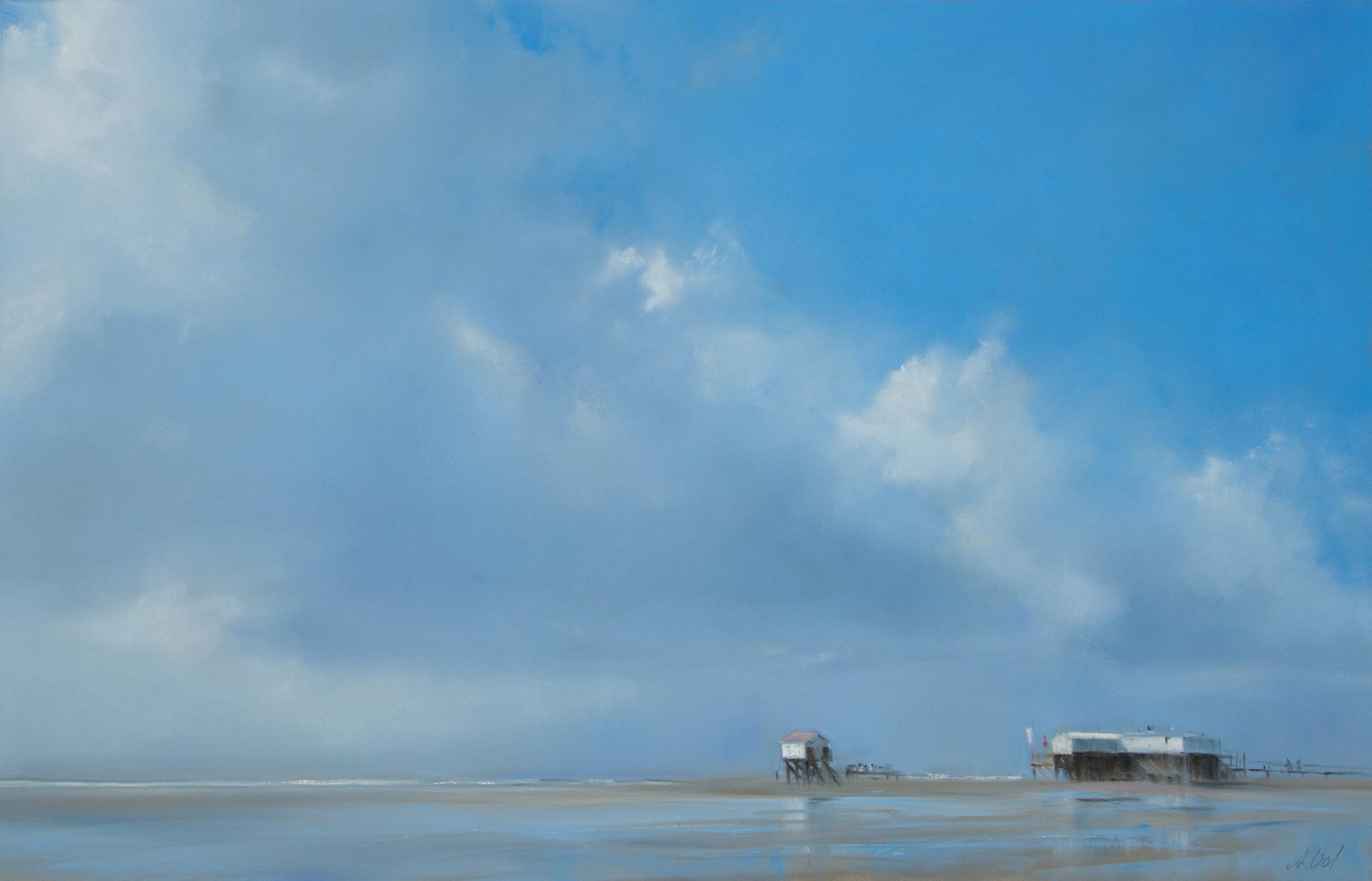 Wolkenband, 44x68 cm, 2015, Pastell