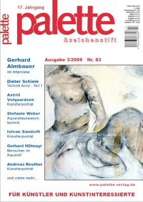 Künstlerportrait in der Zeitschrift palette