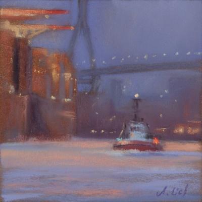 Walterhofer Hafen 7 Uhr Morgens -10 Grad (Studie)