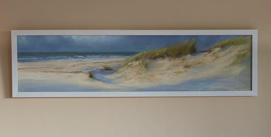 An der Wand - Blick zum Meer (II)