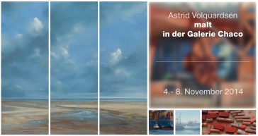 Astrid Volquardsen malt in der Galerie Chaco