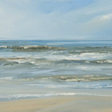 St. Peter-Ording: oilpainting »Soft waves«