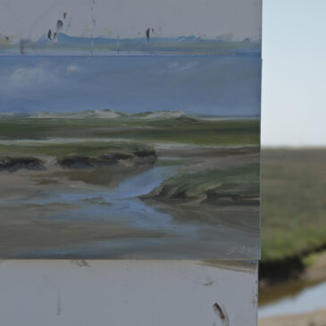 Plein Air in St. Peter Ording: Wasserlauf