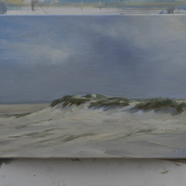 Plein Air in St. Peter-Ording: Vor dem Regen