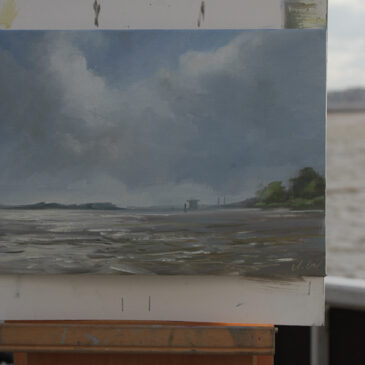 Plein Air at the Elbe: Midsommernight