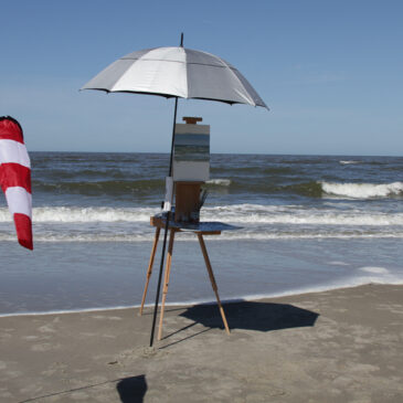 Plein Air in St. Peter-Ording. At the shore