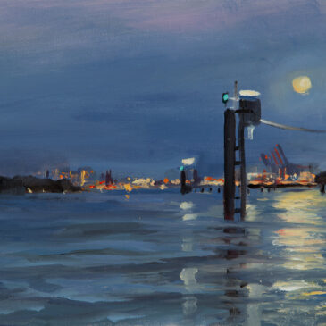 Plein Air Nocturne: Moonlight II