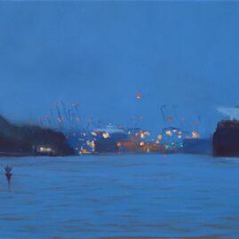 Blaue Stunde am Falkenstein Ufer (Pastell)