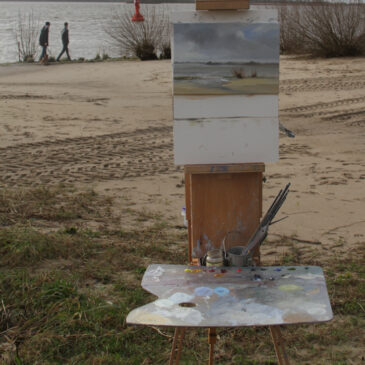 Plein Air: Blankenese beach way