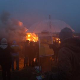 Biikebrennen in Nordfriesland am 21. Februar
