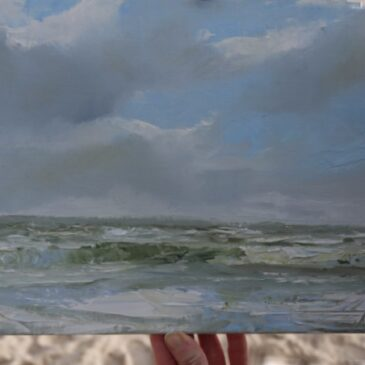 Plein Air on the isalnd of Sylt in Northern Germany: When clouds storm