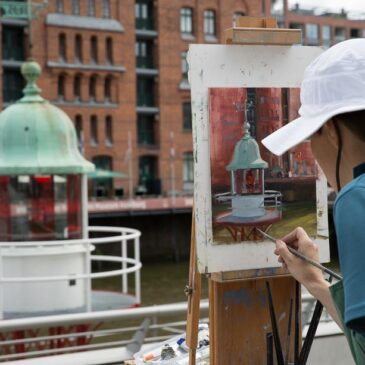 Plein Air in der Hamburger Speicherstadt