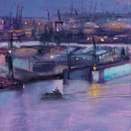 Blick auf den Hafen (Öl)