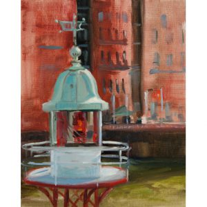 Leuchtturmspitze am Maritimen Museum (Öl)