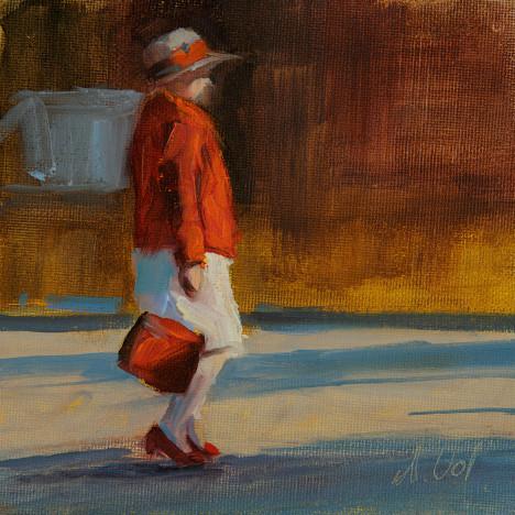 Die rote Handtasche