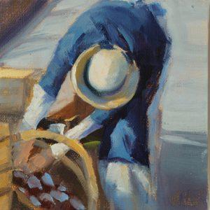 Marktfrau (Öl)