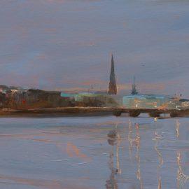 Wintermorgen (Blick zur Lombardsbrücke)