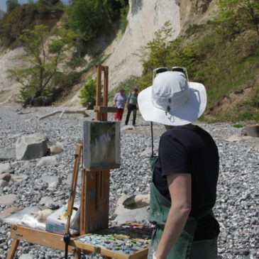 Plein Air Pastell: Kreidefelsen Rügen